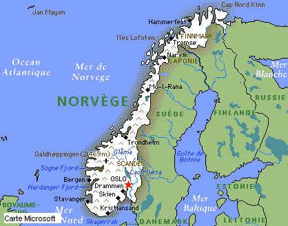 pays scandinaves carte
